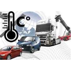 Установка системы мониторинга на транспорт контроль температуры  (беспроводной датчик)